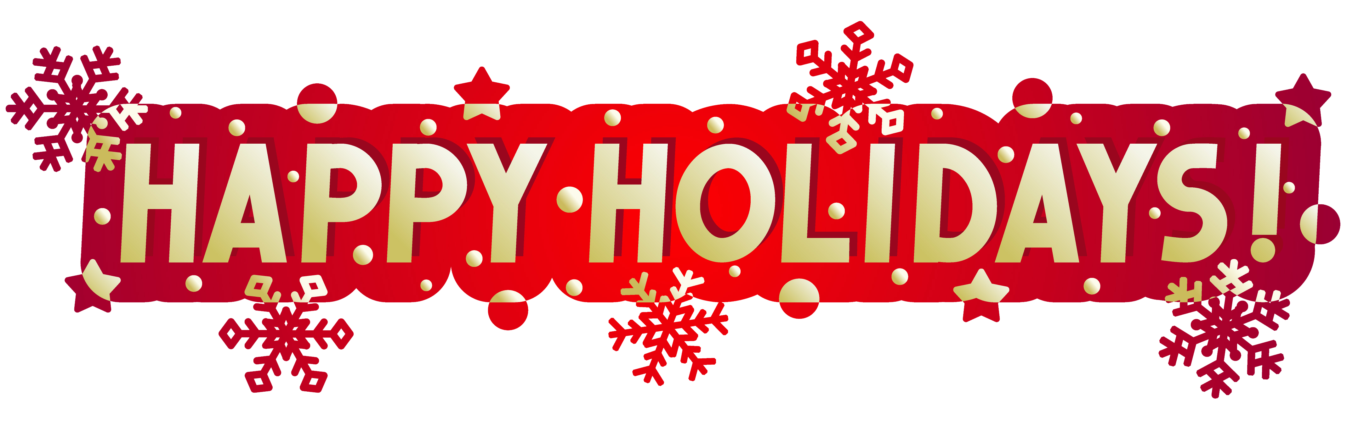 Happy holidays clip art banner.