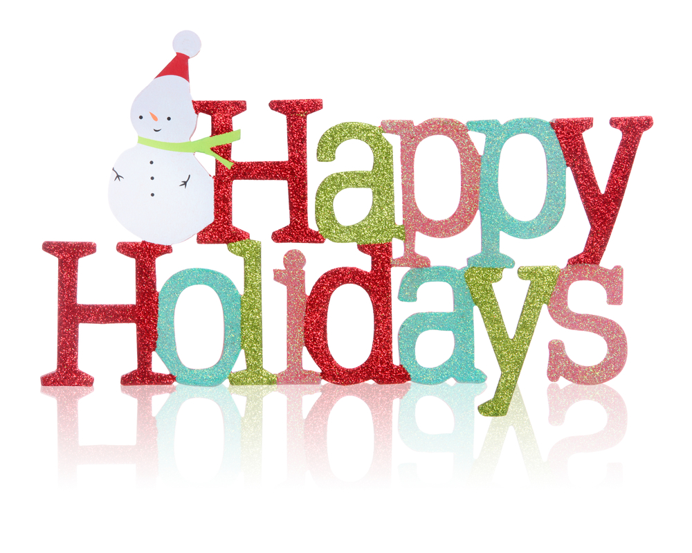 Happy holidays clipart.