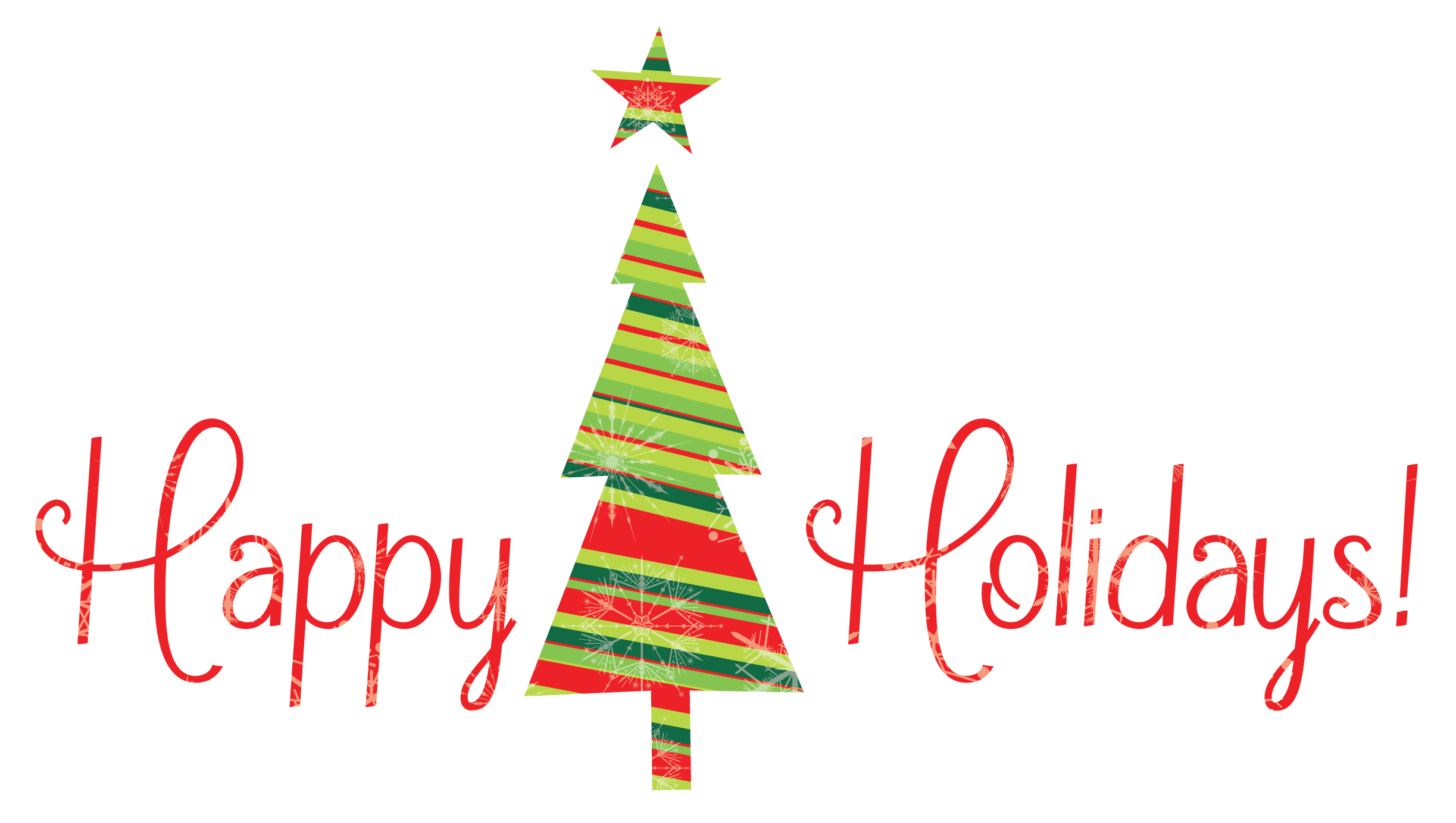 Christmas Happy Holidays Clipart.