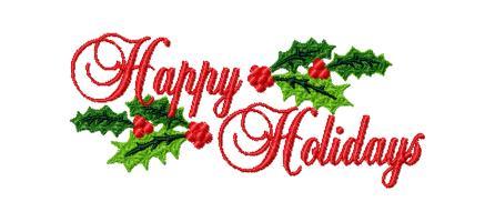 Happy Holidays Free Clipart.