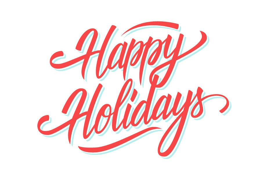 Happy Holidays hand lettering..