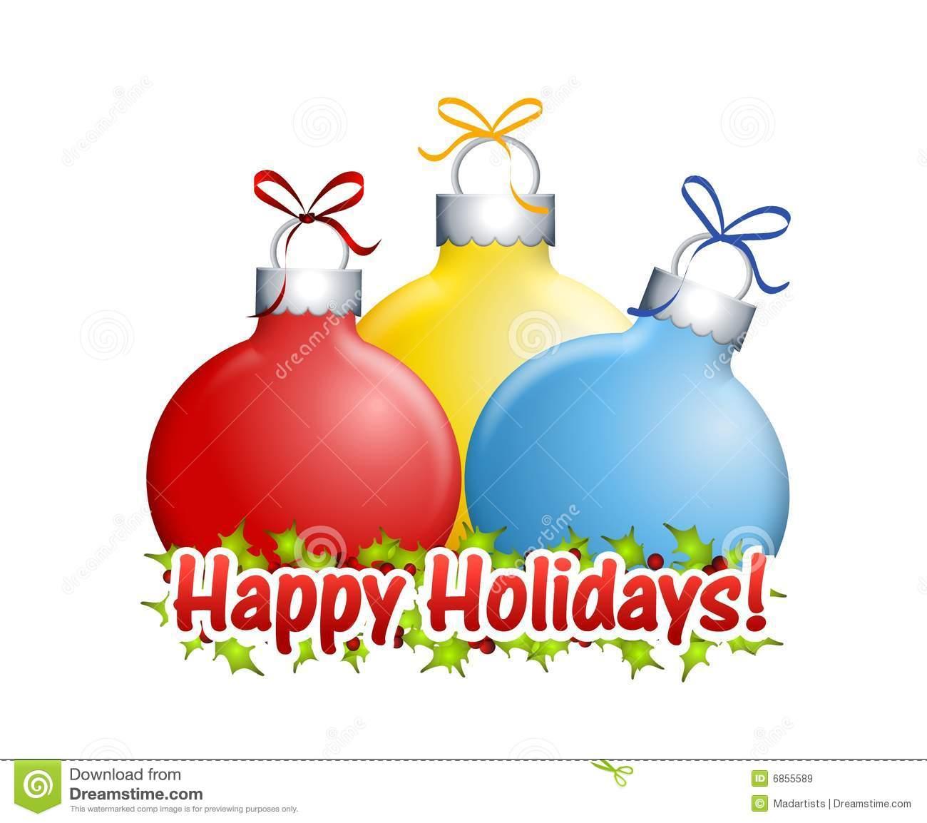 Happy Holidays Ornaments stock illustration. Illustration of image.