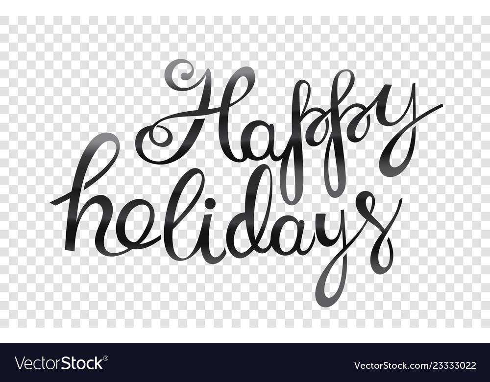 Happy holidays logo isolated on transparent.