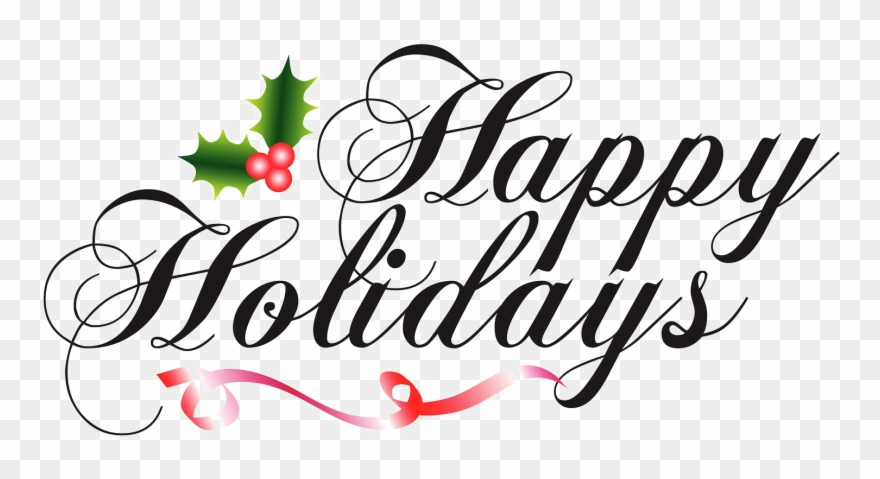 Happy Holidays Png Transparent Clipart (#997904).