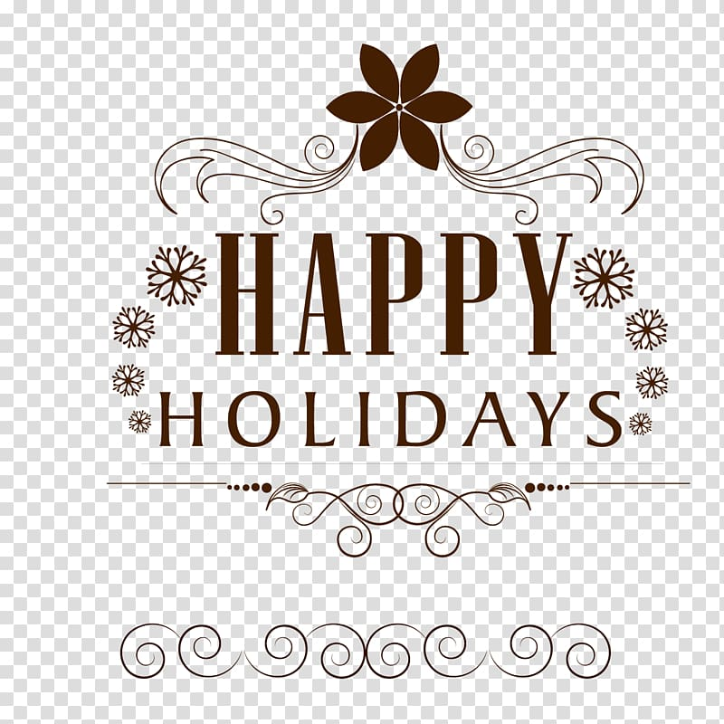 Holiday Euclidean , Happy Holidays transparent background PNG.