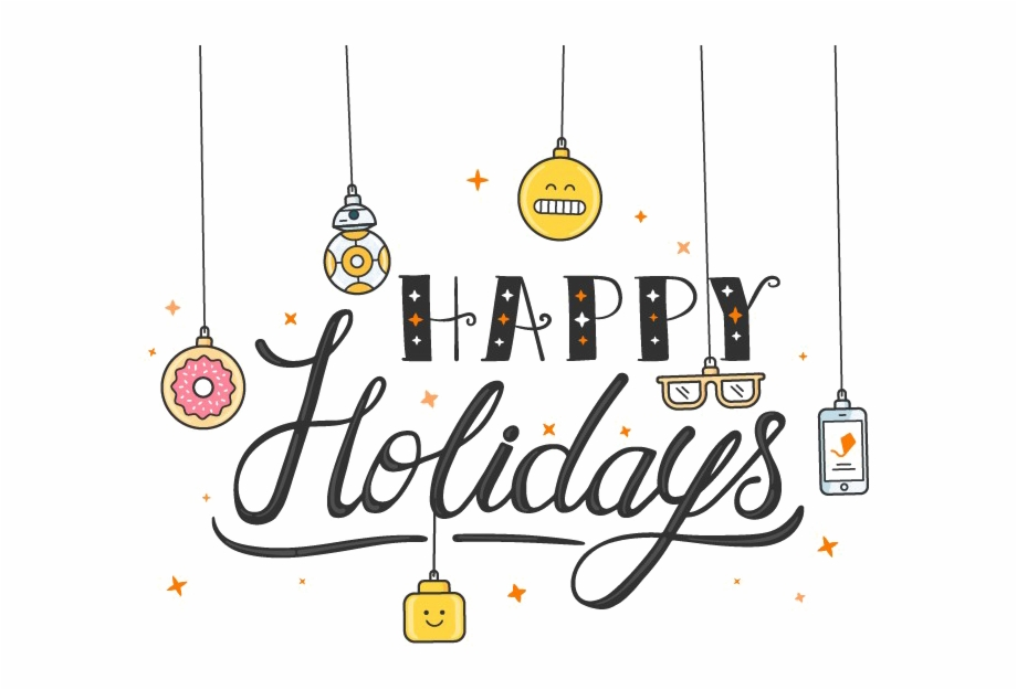 Happy Holidays Png Transparent Image.