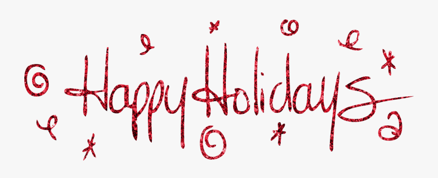 Clip Art Happy Holidays Transparent.