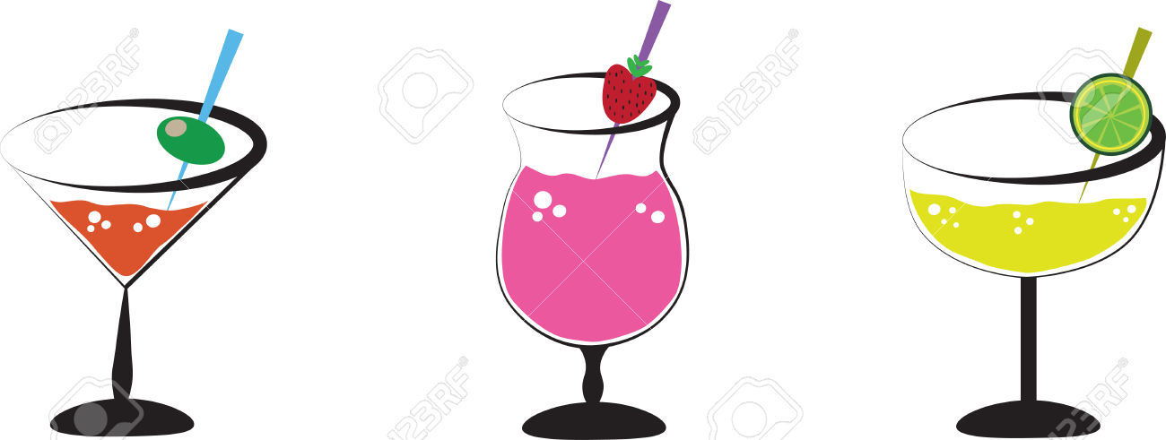 Happy Hour Specials Clipart.