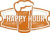 Happy Hours Clip Art.