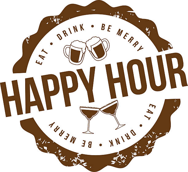 Best Happy Hour Illustrations, Royalty.