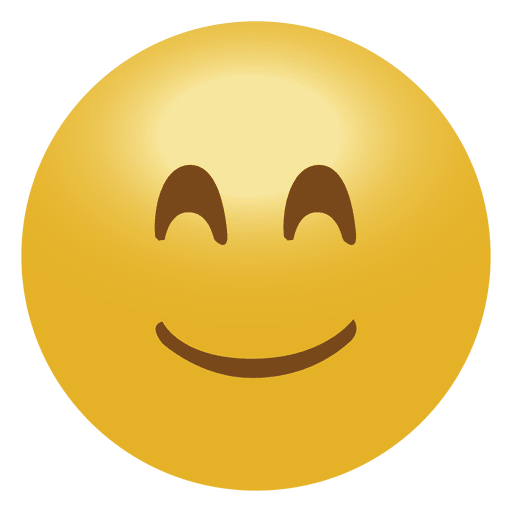 Happy smile emoji emoticon icon.