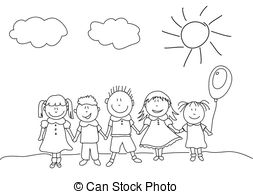 EPS Vectors of happy kids csp12453091.