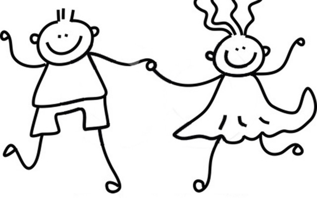 happy children clipart black and white clipartsgram Clipart Of.