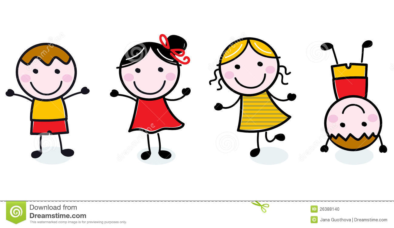 Happy Child Clip Art happy kids clipart bla...