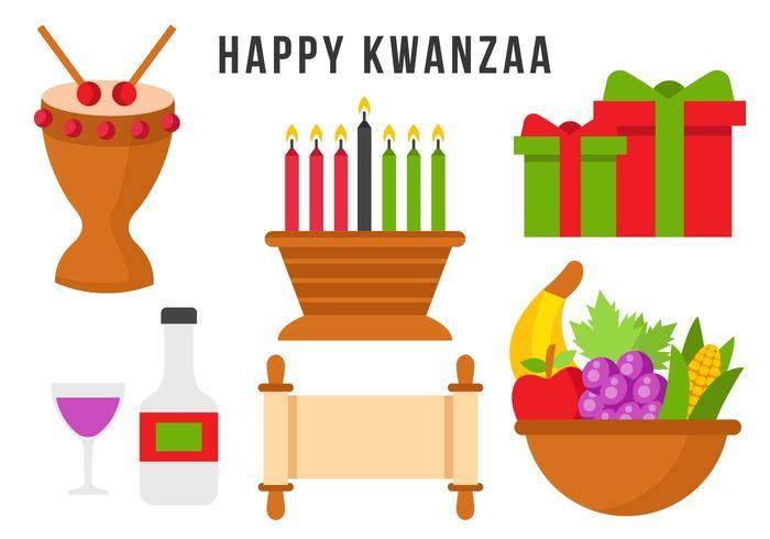 Free Happy Kwanzaa Element Vector.