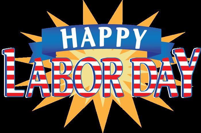Beautiful Happy Labor Day Clip Art.