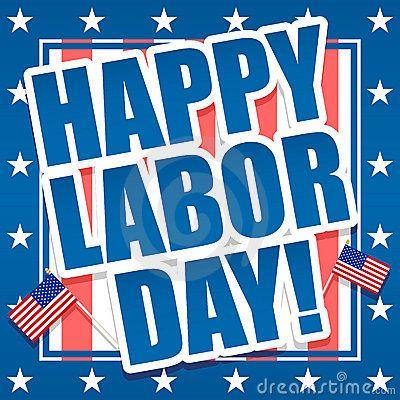 Happy Labor Day America Graphic.