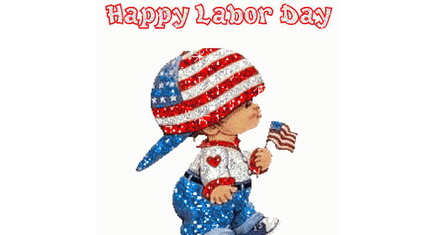 Happy Labor Day Clip Art.