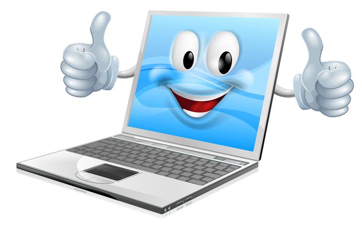 Laptop clipart happy, Laptop happy Transparent FREE for.