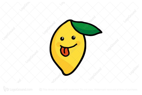 Exclusive Logo 187334, Happy Lemon Logo.