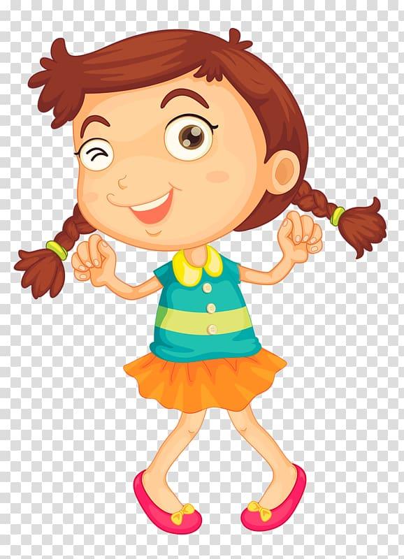 Child Play Illustration, Happy little girl transparent.