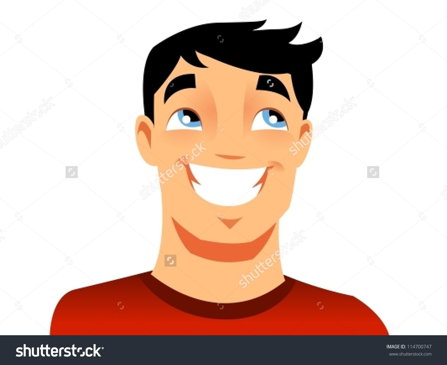 Happy Man Stock Vector 114700747.
