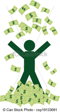EPS Vectors of Rich man with money.