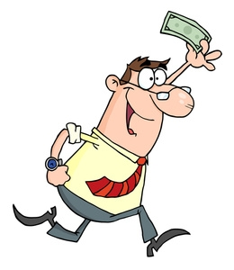 Happy Man With Money Clipart.