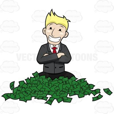 green money Cartoon Clipart.