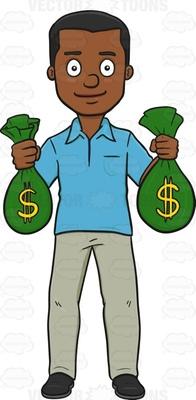 cash bag Cartoon Clipart.