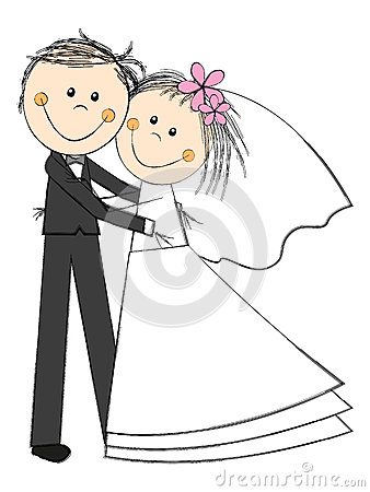 Happy Wedding Couple Royalty Free Stock Image.