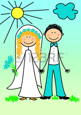 172 The Newly Married Couple Stock Vector Illustration And Royalty.