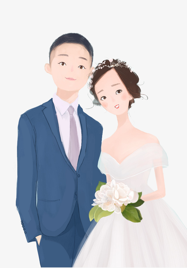 Happy Married Couple Clipart.