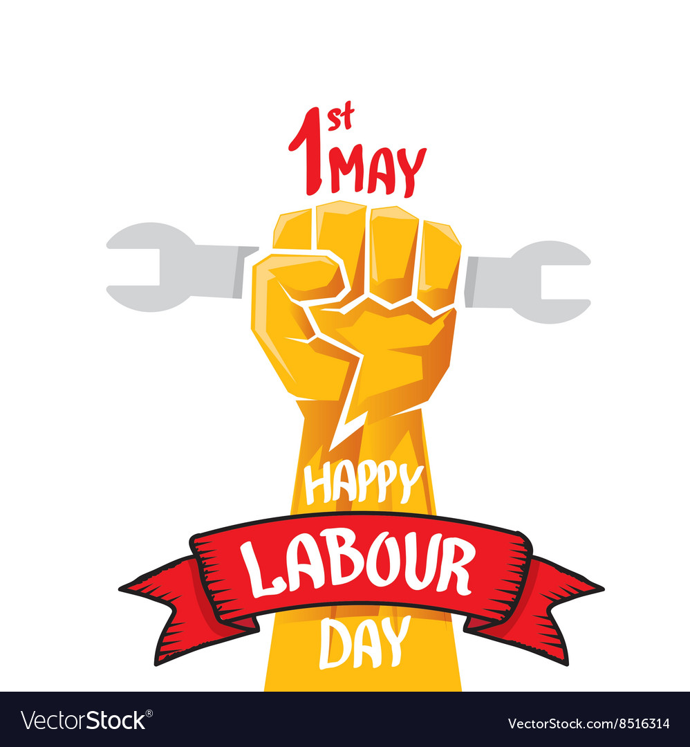 Happy labour day poster.