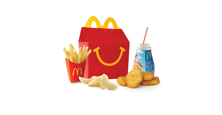 Report: Half of McDonald's Happy Meal customers pass on soda.