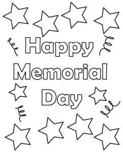 11 coloring pictures memorial day.