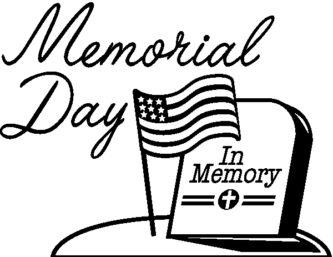 Memorial Day Weekend Clipart.