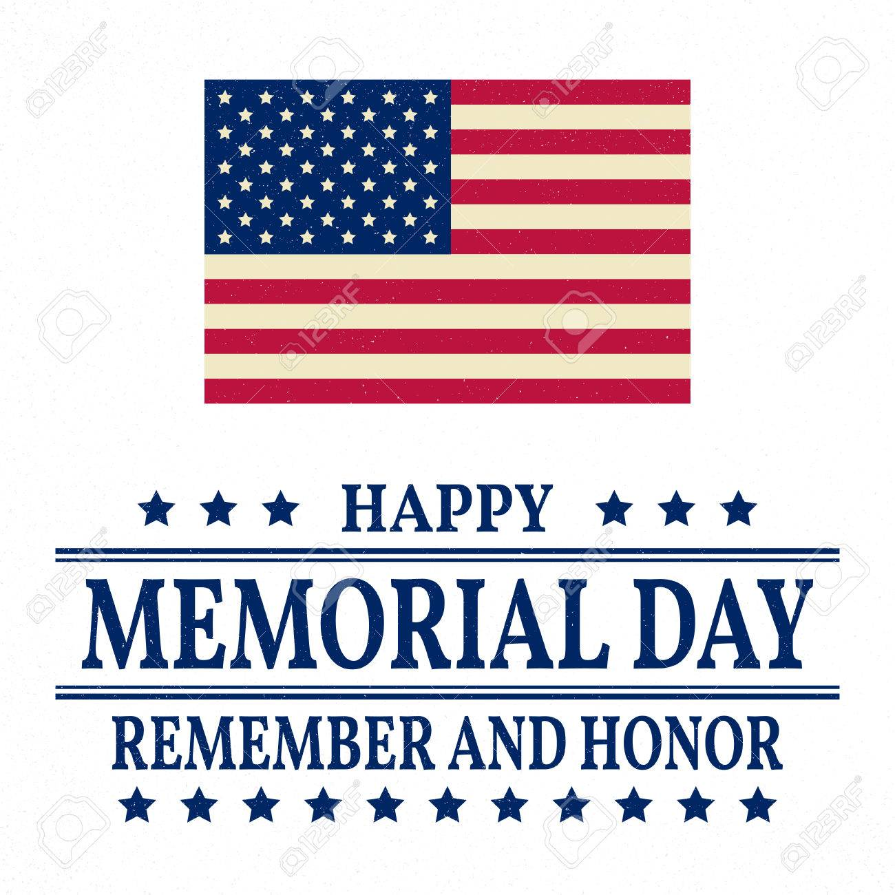 Happy Memorial Day background template. Happy Memorial Day poster.