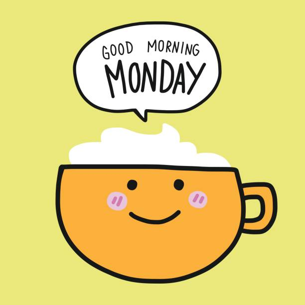 Best Happy Monday Illustrations, Royalty.