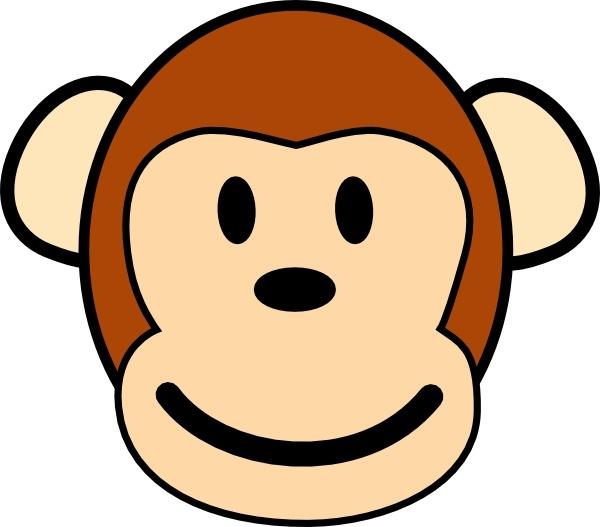 Happy Monkey clip art Free vector in Open office drawing svg.