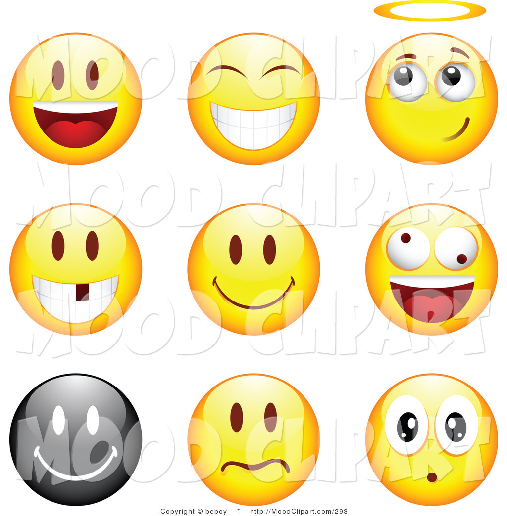 Mood faces clip art.