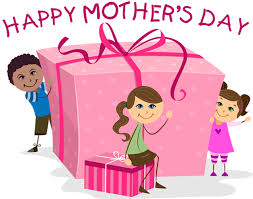 Mothers day clipart: with mothers day banners, black and white.