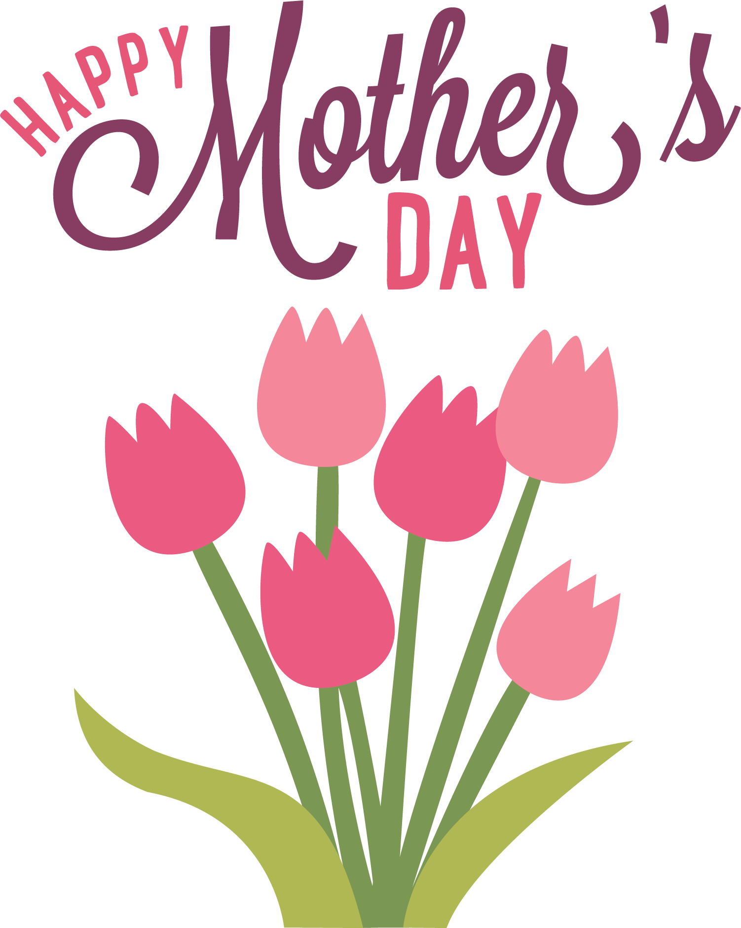 Happy Mothers Day Banner transparent PNG.