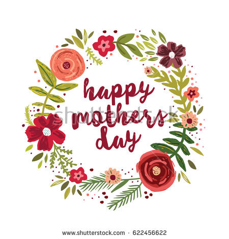 Happy Mothers Day Stock Images, Royalty.