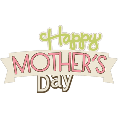 Happy Mothers Day Small Banner transparent PNG.