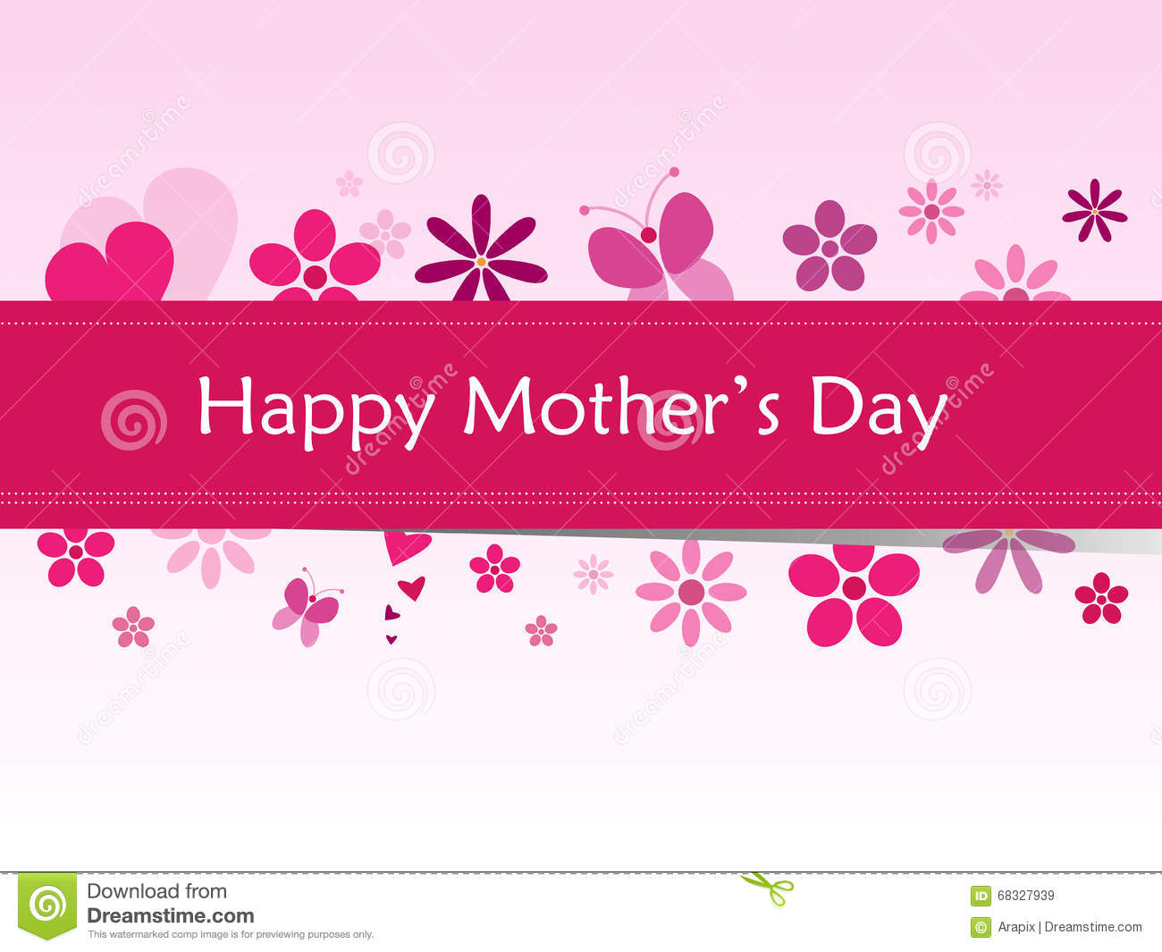 Happy Mothers Day Banner Clipart.