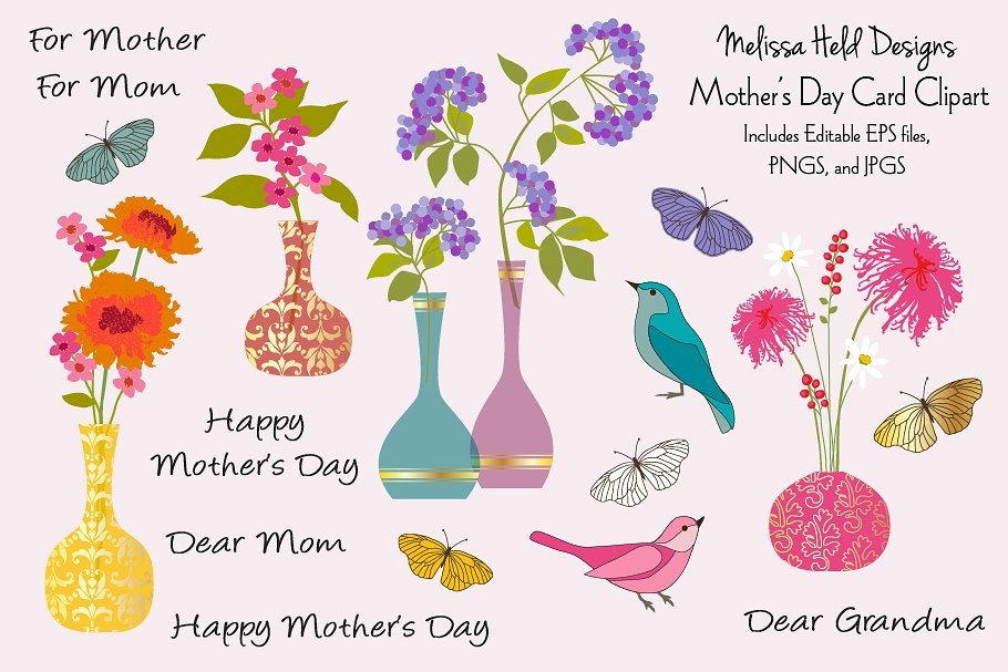 Mothers Day Card Clipart.