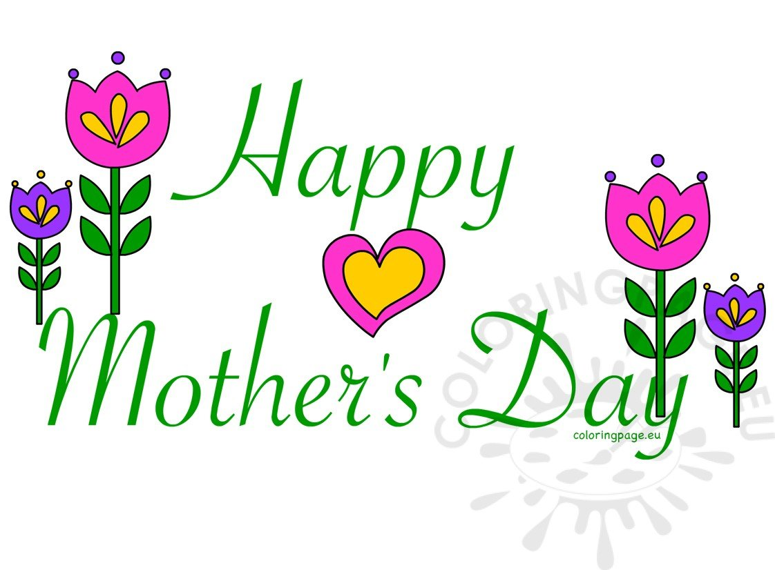 Happy Mother's Day card clipart.