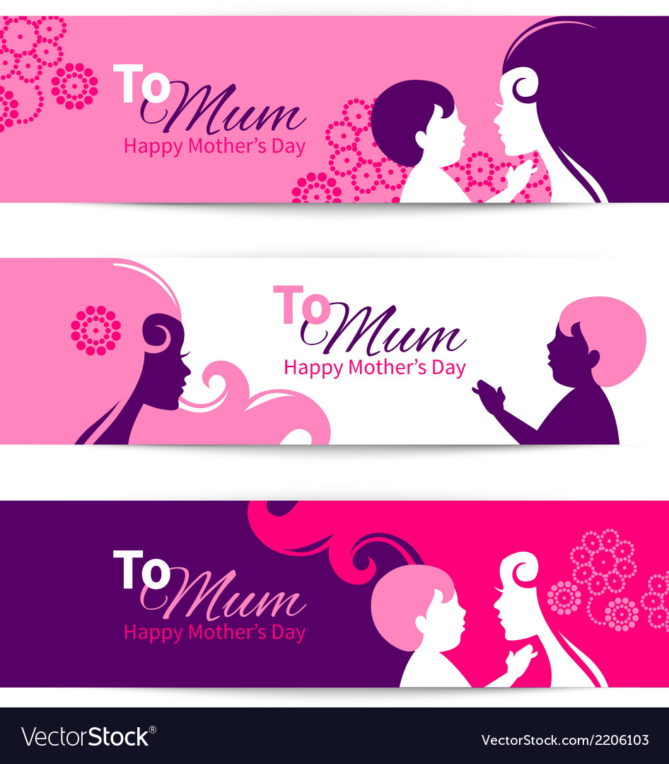 Banners for Happy Mothers Day.