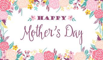 Happy Mothers Day Free Vector Art.